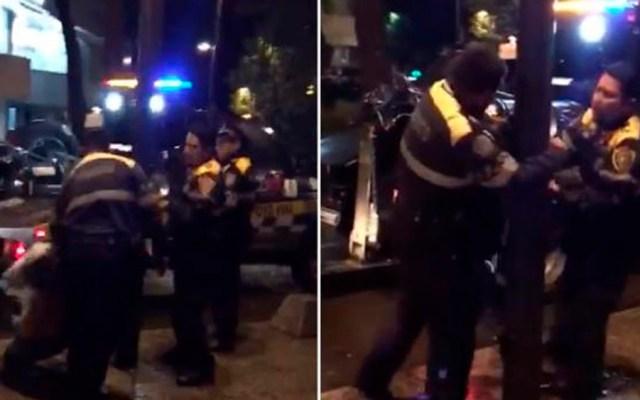 #Video Policías golpean a taxista en Polanco - Foto de El Universal