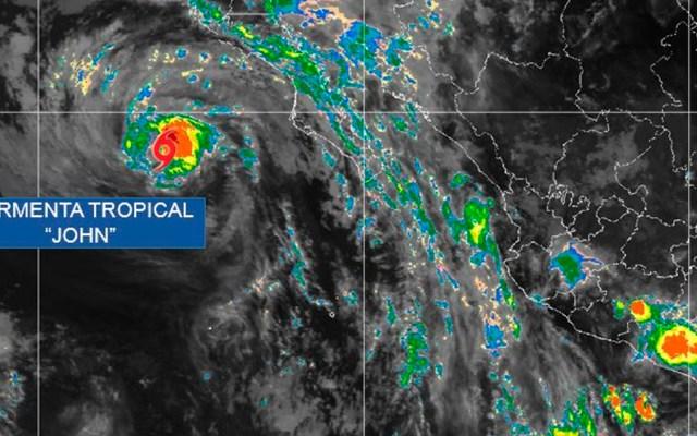 John se degrada a tormenta tropical - Foto de @conagua_clima