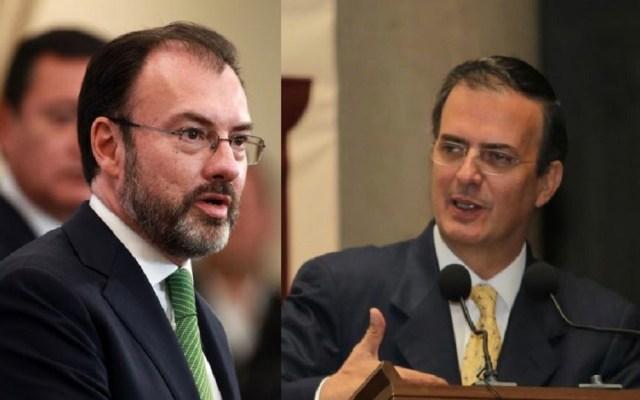Cancelan mensaje conjunto de Luis Videgaray y Marcelo Ebrard - Foto de internet