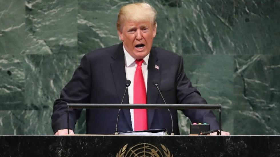 Trump alaba su estrategia con Pyongyang y amenaza a Siria en la ONU - Foto de AFP