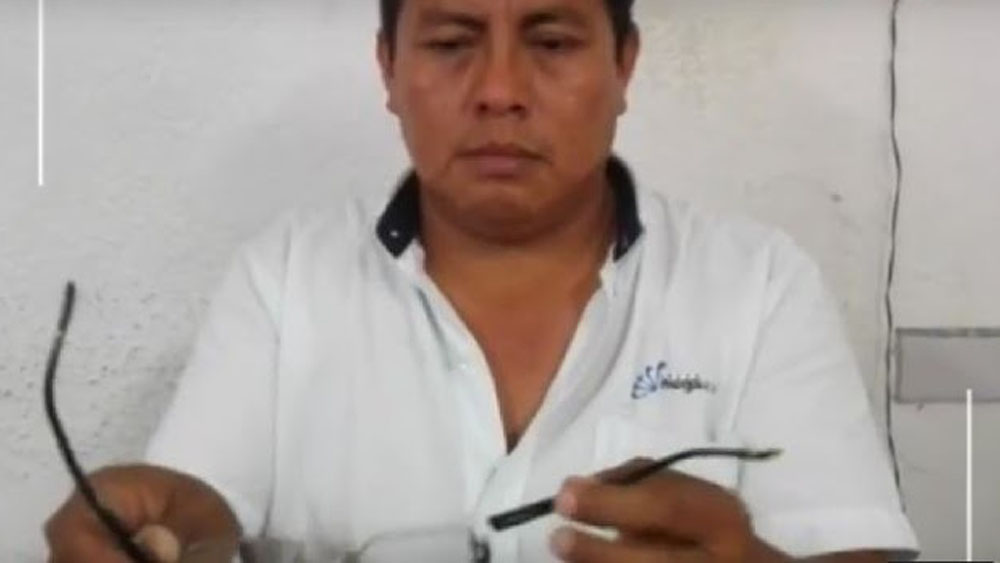 Reconocen exalcalde y policías agresión a periodista - Mauricio Can Tec. Foto de internet
