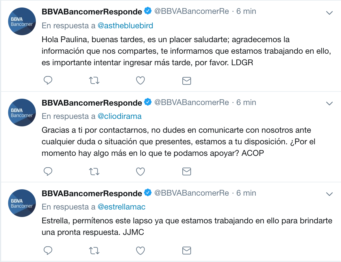 Reportan falla en la aplicación de BBVA Bancomer