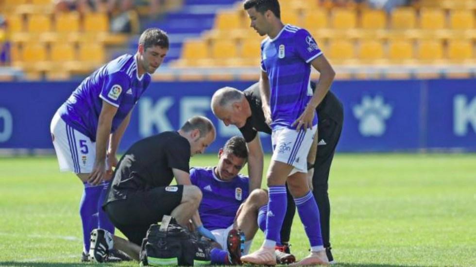 Alanís termina lesionado en su debut con el Real Oviedo - Foto de @RealOviedo