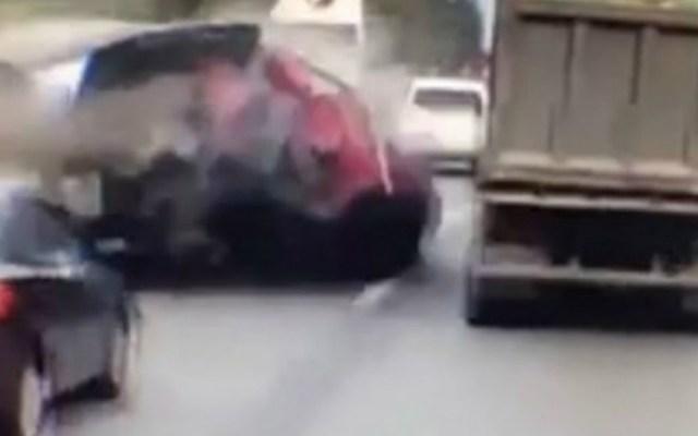 #Video Carambola en Bielorrusia deja al menos un muerto - Foto de Internet