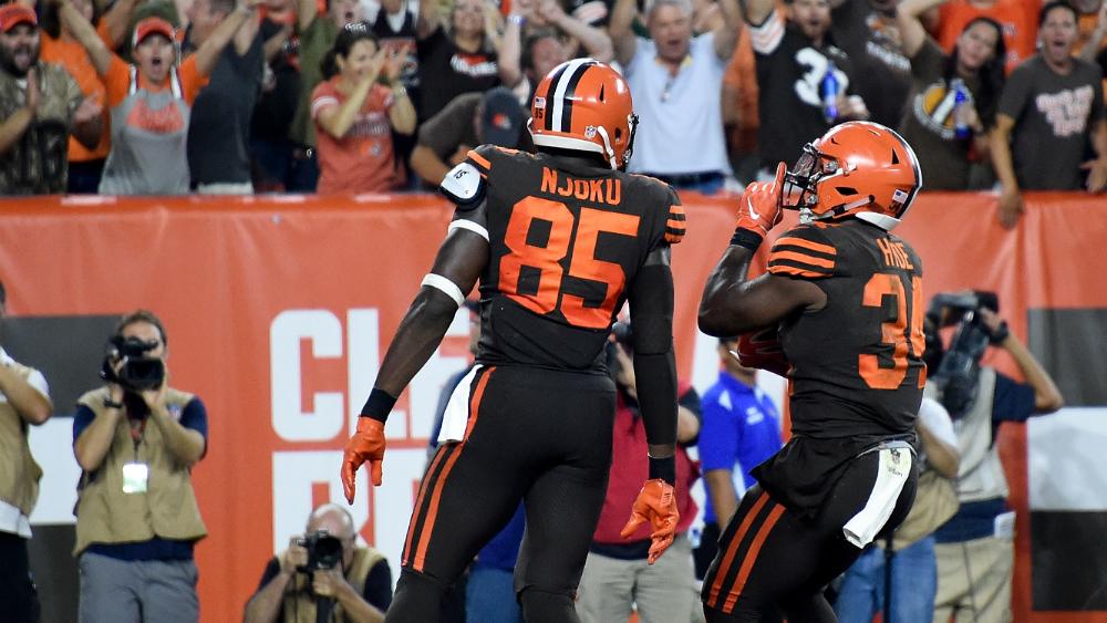 La victoria de los Browns hace que la ciudad ¡beba gratis!