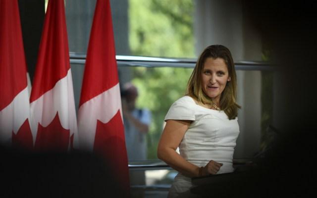 Chrystia Freeland se reunirá con Marcelo Ebrard el lunes - Foto de AFP