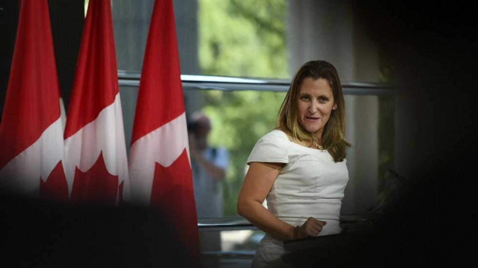 """Acuerdo entre EE.UU. y Canadá es """"eminentemente"""" posible: Freeland - Foto de AFP"""