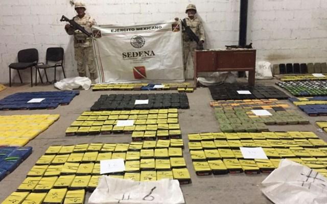 Ejército asegura 478 kilos de cristal en Sonora - Foto Especial
