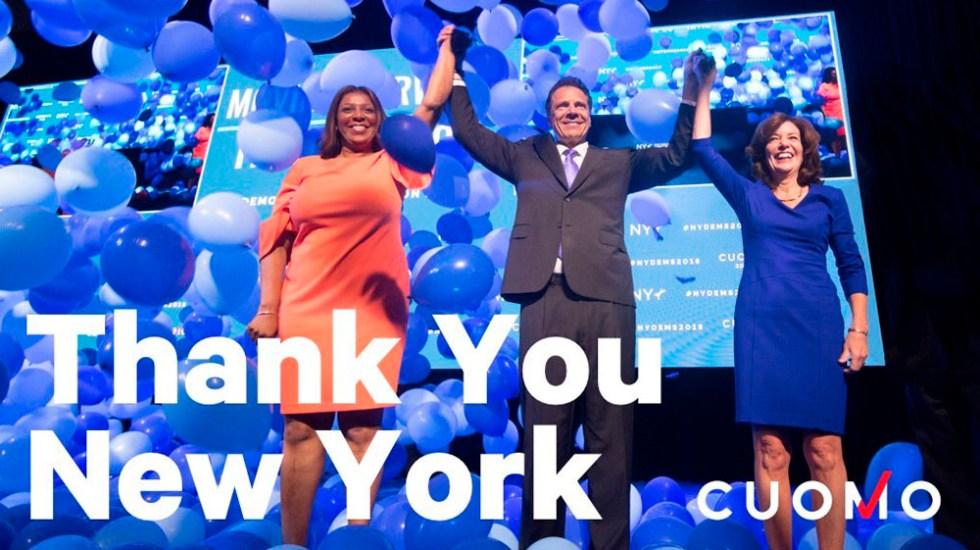 Andrew Cuomo gana elección primaria demócrata de Nueva York