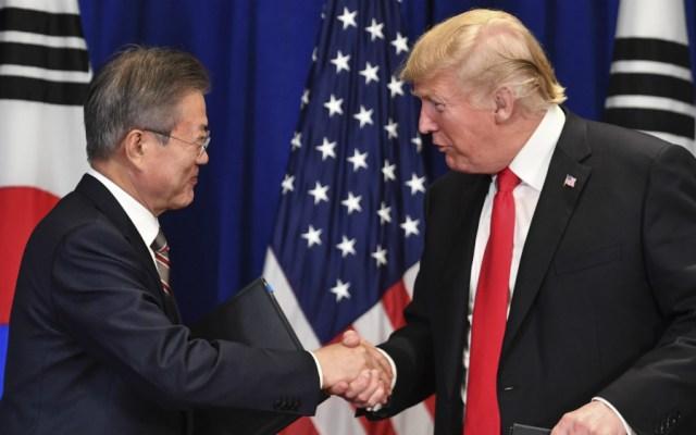 Donald Trump elogia acuerdo comercial con Corea del Sur - Foto de AFP