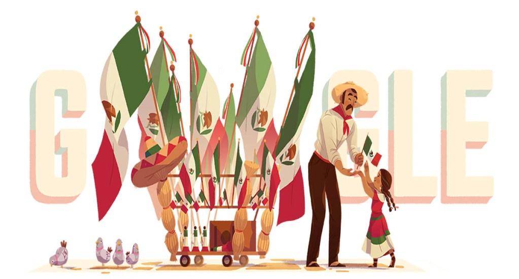 Google festeja la Independencia de México con vendedor de banderas. Noticias en tiempo real