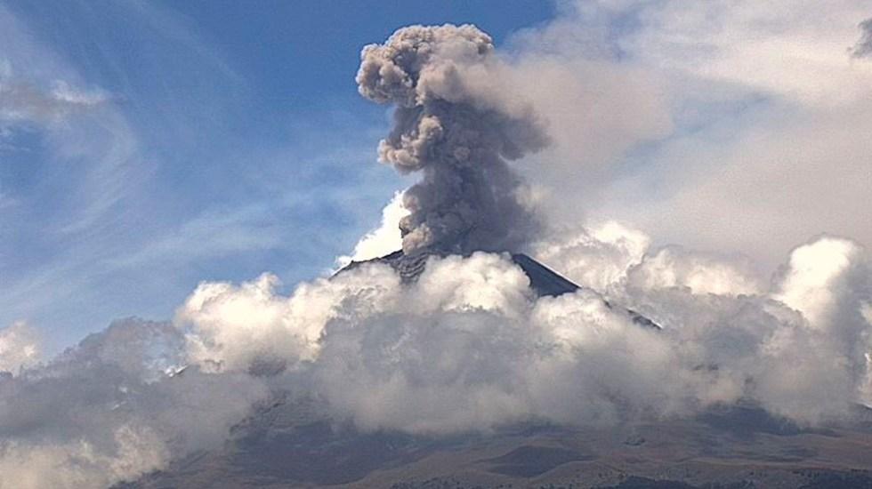 Alerta amarilla por constante actividad del Popocatépetl - Foto de @webcamsdemexico