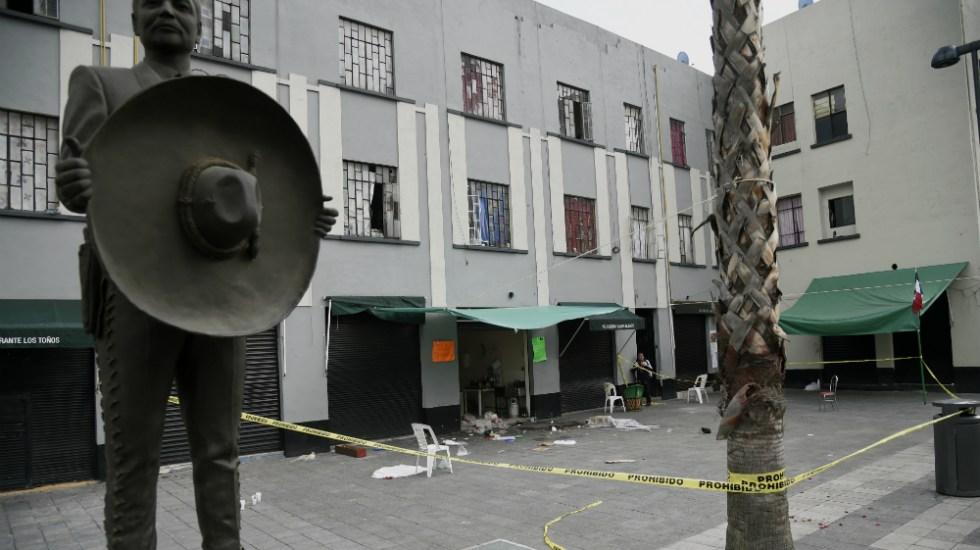 Ya son seis las víctimas del ataque armado en Garibaldi - Negocio donde ocurrió el ataque armado. Foto de AFP