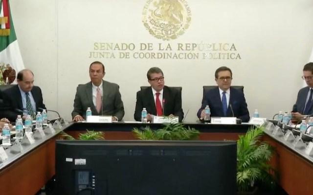 Guajardo entrega acuerdo comercial con EE.UU. a la Junta de Coordinación Política del Senado - Captura de pantalla