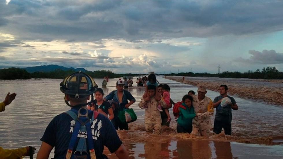 Televisa abre centro de acopio por inundaciones en Sonora - Foto de Notimex