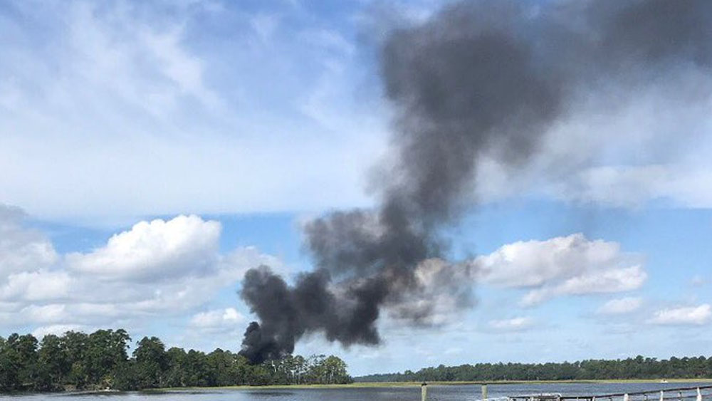 Se estrella avión militar de EE.UU. en Carolina del Sur - Foto de @PDCMDOfficial
