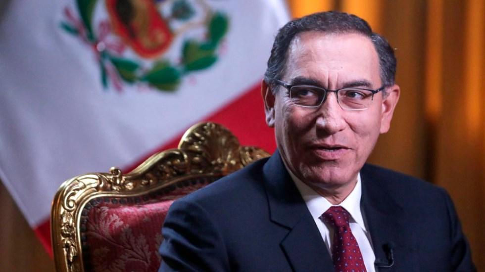 """Congreso de Perú destituye al presidente Martín Vizcarra; lo declaran """"incapaz moral"""" en juicio político - En la foto, el presidente Martín Vizcarra. Foto de EFE"""