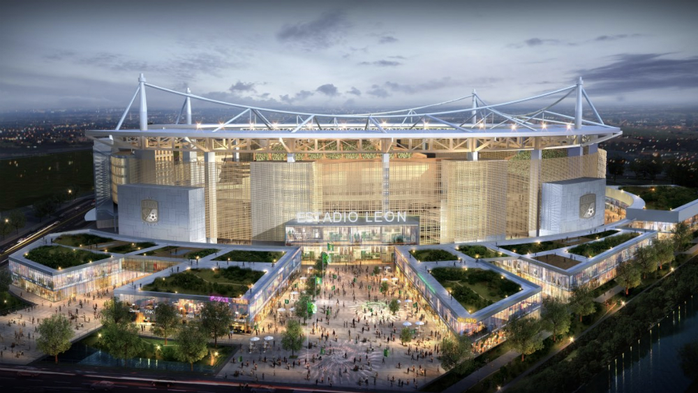 León presenta proyecto de su nuevo estadio previsto para 2021. Noticias en tiempo real