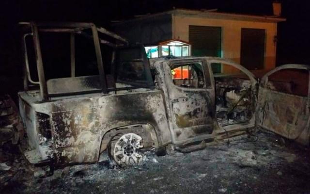 Pobladores queman patrullas tras muerte de civil en Hidalgo - Foto Especial