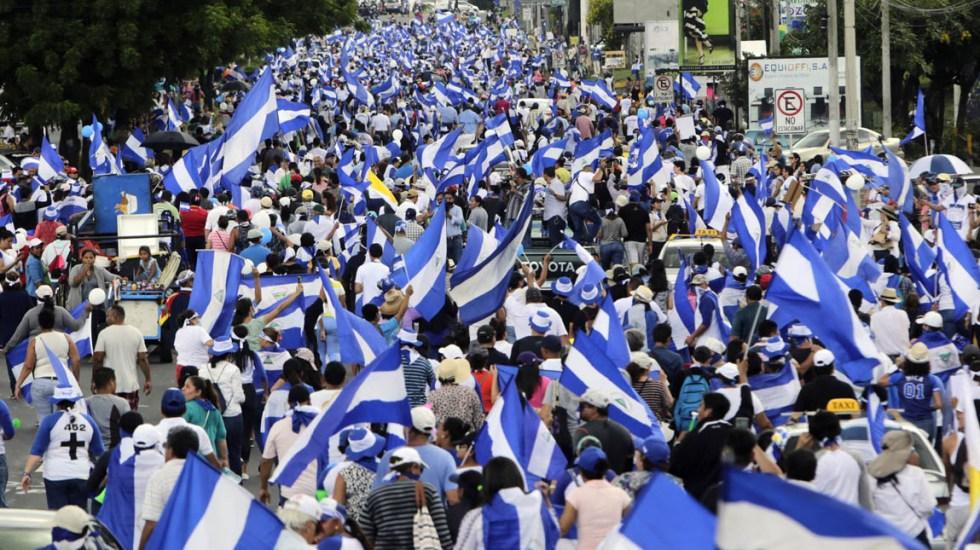 OEA activa Carta Democrática contra Nicaragua por violaciones a derechos humanos - Manifestación en Nicaragua. Foto de AFP / Inti Ocon