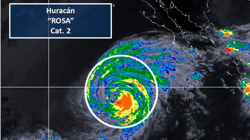 Huracán Rosa se degrada a categoría 2 - Foto de @conagua_clima