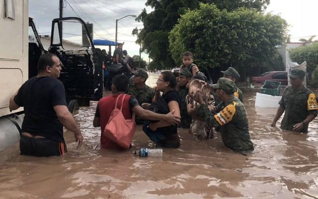 Superan instancias del gobierno federal etapa de emergencia en Sinaloa - Foto de Sedena