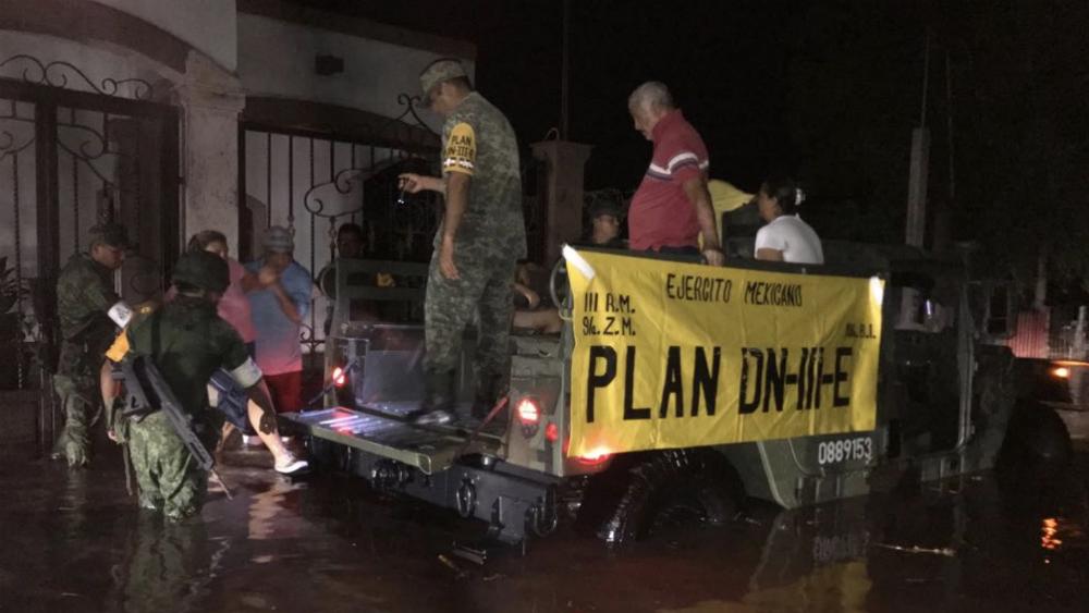 Protección Civil federal apoyará a Sinaloa ante emergencia por lluvias - Foto de @SEDENAmx