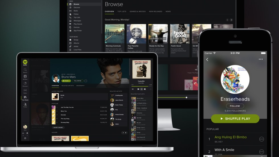 Spotify permitirá a artistas independientes cargar música en su plataforma