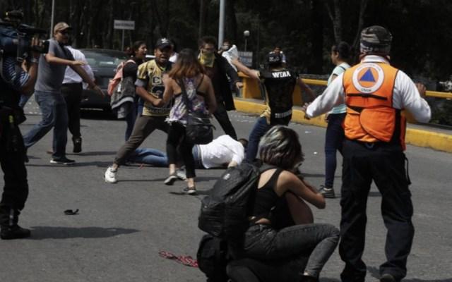 Liberan a implicados de agresión en la UNAM - Foto de @lajornadaonline