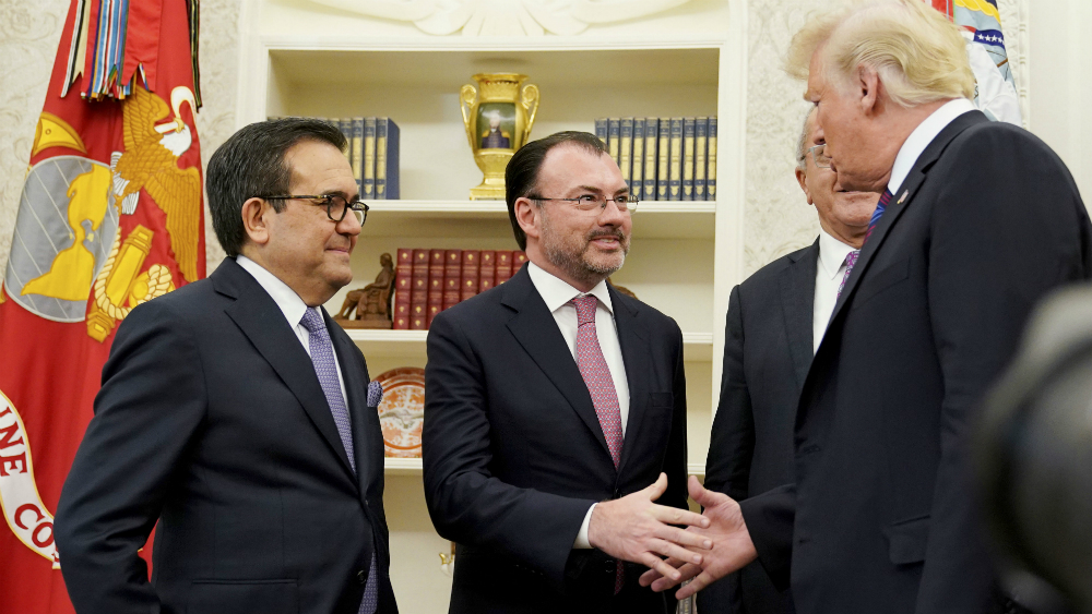 USMCA da certidumbre a México: Videgaray - Foto de AFP