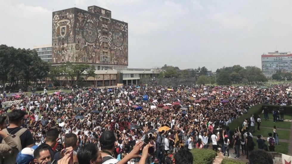 Acuerdan nuevos paros en facultades de la UNAM - Foto de @Megafono_MX