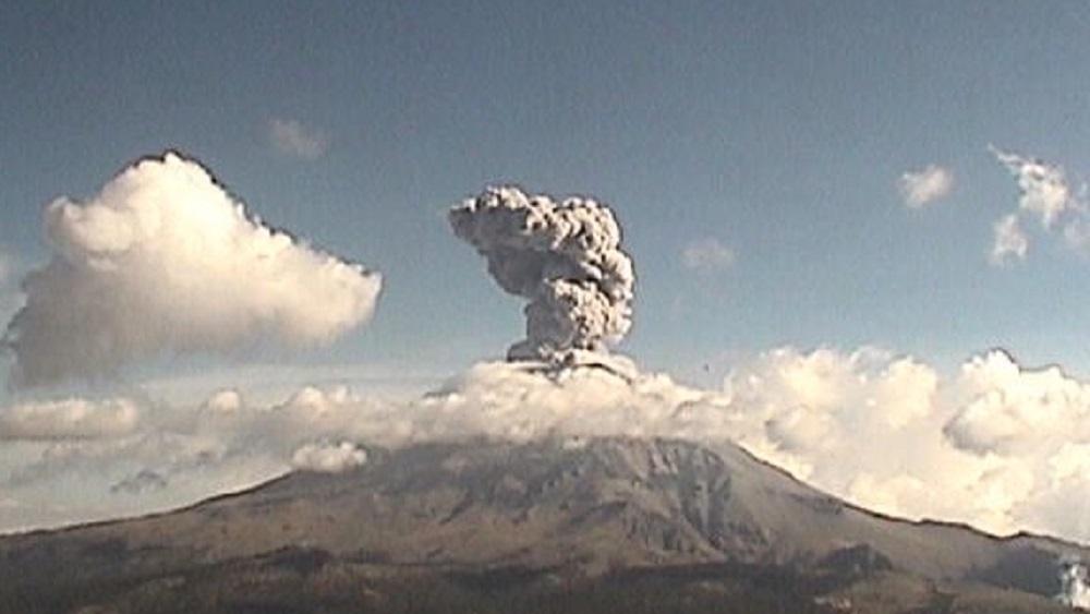 Sismo del 19-S afectó actividad del Popocatépetl - Foto de @LUISFELIPE_P