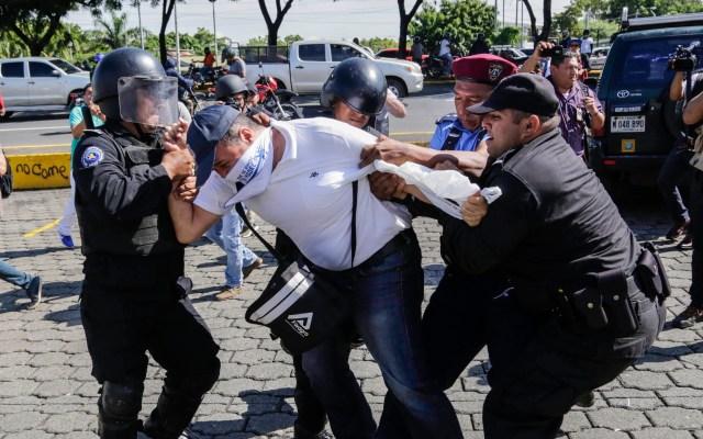 Mercosur condena represión del gobierno de Daniel Ortega en Nicaragua - Represión en Nicaragua. Foto de AFP