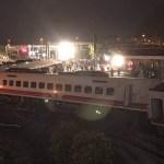 Descarrilamiento de tren en Taiwán deja 18 muertos - Tren descarrilado en Taiwán. Foto de AFP / Administración de Ferrocarriles de Taiwán