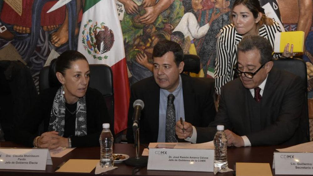Se reúnen Sheinbaum, Amieva y nuevos alcaldes capitalinos - Foto de @amievajoserra