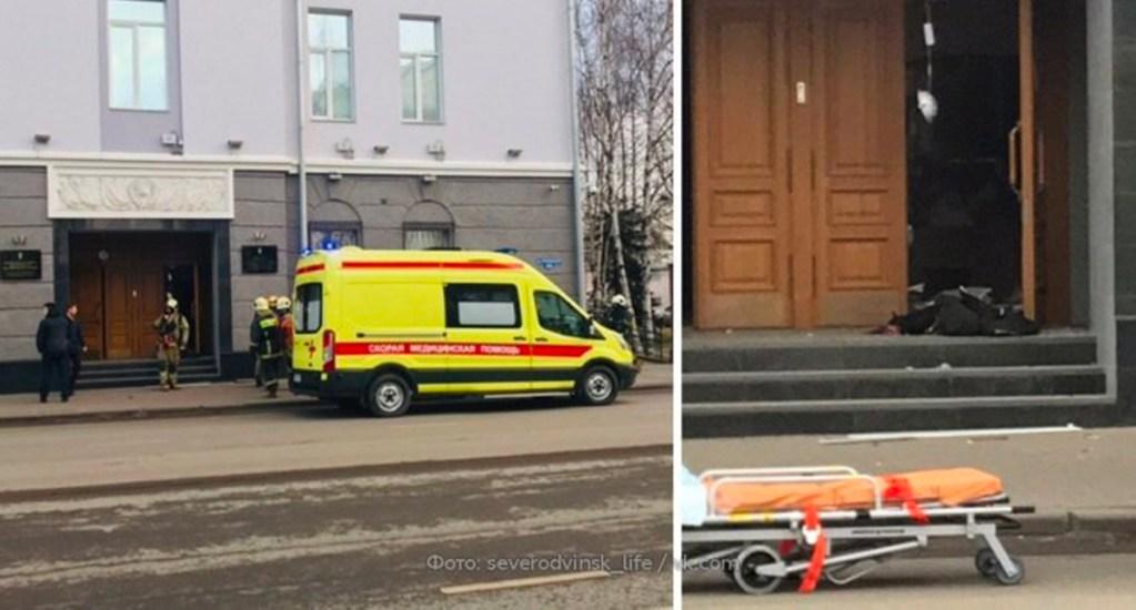 Ataque suicida contra servicio de seguridad de Rusia deja tres heridos - Foto de Twitter