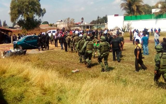 Delincuentes detenidos por enfrentamiento en Texcoco pertenecen al CJNG - Foto de @JesusLopez_08
