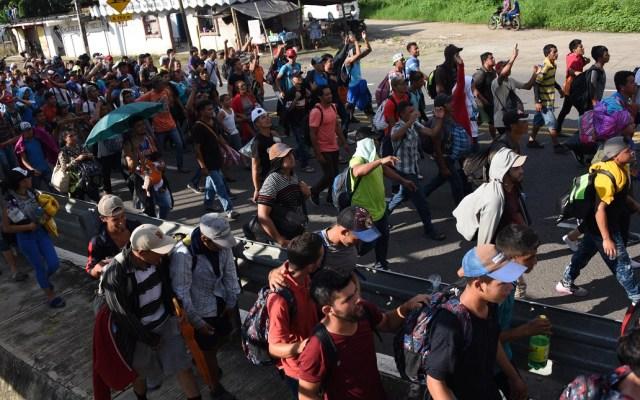 Caravana de seis mil migrantes partirá de Tapachula a Oaxaca - centroamericanos partirán este lunes a Oaxaca. Foto de AFP / Johan Ordonez