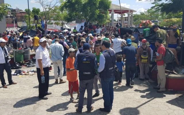 Instalan centros de acopio en la capital para apoyar a migrantes - caravana migrante no recibirá trato diferenciado