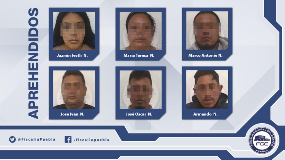 Fiscalía de Puebla desarticula banda de secuestradores - Foto de Fiscalía de Puebla