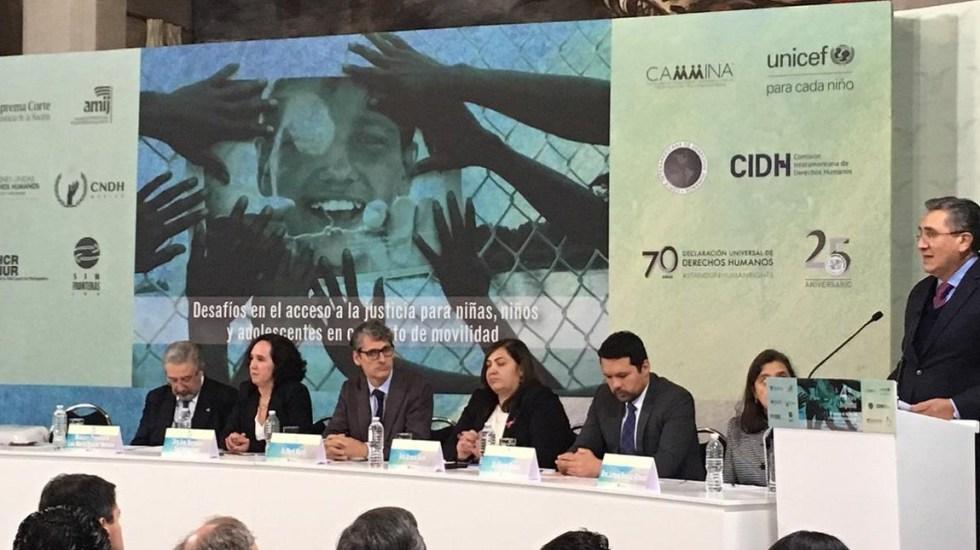 Pide CNDH a México definir postura sin ambigüedades sobre migrantes - Titular de la CNDH en el 4to Foro Regional en Materia de Migración. Foto de @CNDH