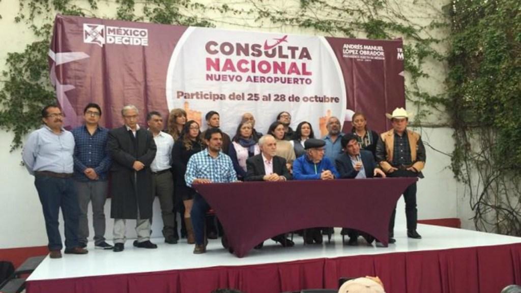 La pregunta que definirá el destino del NAIM - Conferencia de prensa sobre consulta del NAIM en Texcoco. Foto de @elpoder_tv