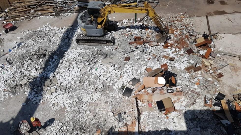 Concluye segunda etapa de demolición del colegio Rébsamen - Foto de Sobse