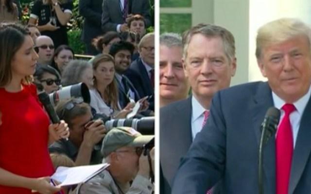 Donald Trump insultó a periodista en conferencia de prensa - En conferencia de prensa, Donald Trump insultó a una periodista al decirle que nunca piensa