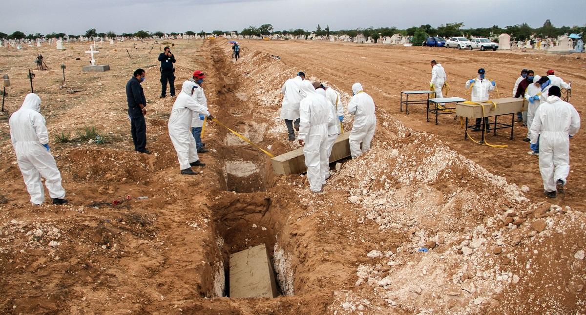 El cementerio de San Rafael sirvió como fosa común para 112 cuerpos en Ciudad Juárez. Foto de AFP / Herika Martínez