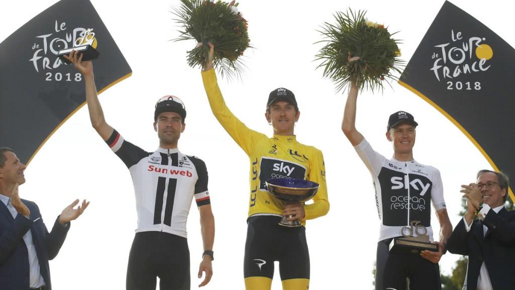 Roban trofeo del Tour de Francia a Geraint Thomas - robaron el premio del tour de france a geraint thomas