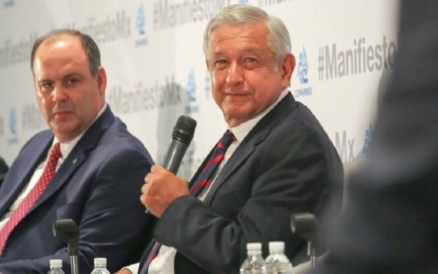 López Obrador se está jugando la confianza del sector privado: Coparmex - Coparmex con AMLO NAIM