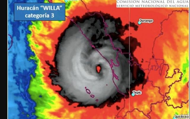 Primeros efectos de Willa llegan a Sinaloa - Foto de Conagua