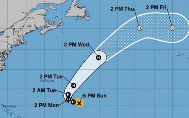 Huracán Óscar continúa fortaleciéndose en el Atlántico - Foto de NOA