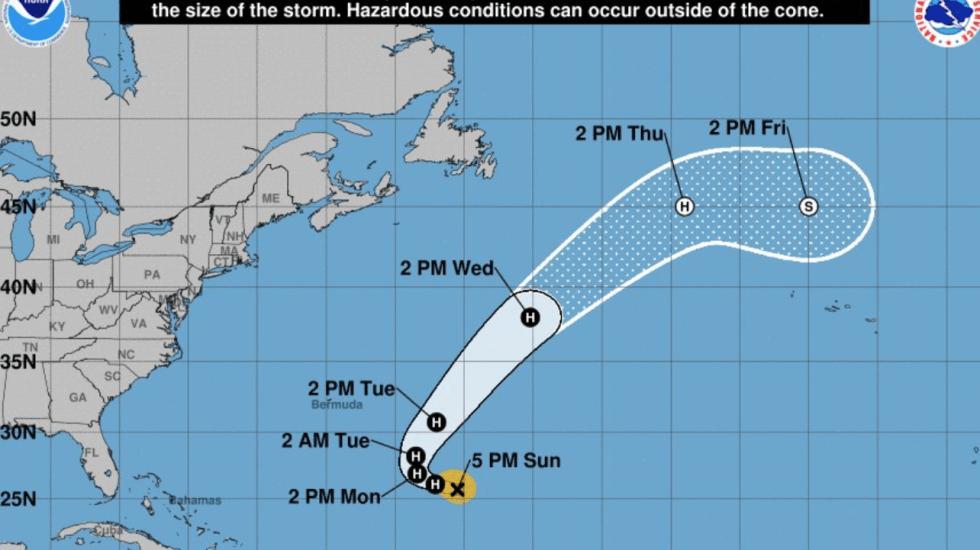 Óscar se convierte en huracán categoría 1 en el Atlántico - Foto de NHC